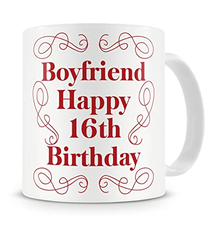 Boyfriend Happy 16th Birthday Mug Gift Present For From Girlfriend 16 Sixteenth Sixteen