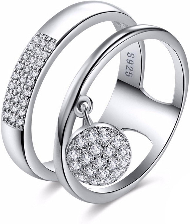 Dudee Genuine Women Rings rose gold engagement ring fashion diamond ring