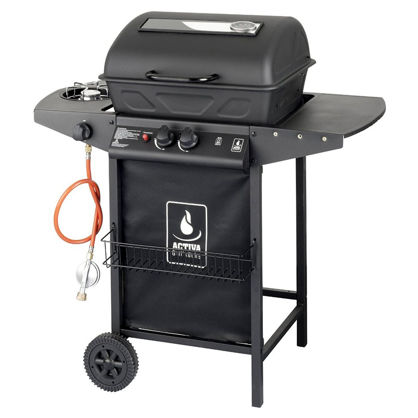 Activa Lava Stone Gas Grill 5.5 KW + Side Burner 2.5 KW