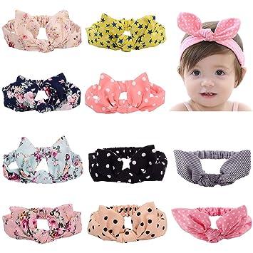 2581a73dc Amazon.com  Baby Headbands Turban Knotted