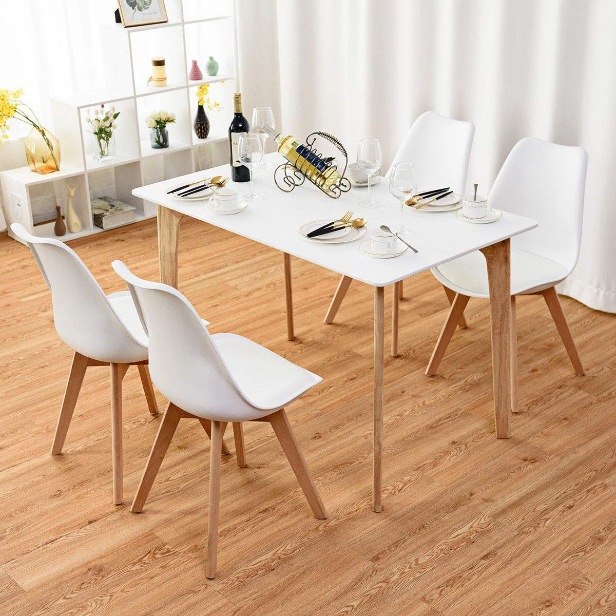 Giantex Mid Century Modern DSW Dining Chairs Upholstered ...
