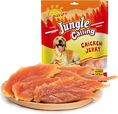 Jungle Calling Snacks para Perros, Pechuga Enterna de Pollo, Pollo Seco, Refrigerios de Entrenamiento para Mascotas, Cachorros Molar Stick para ...