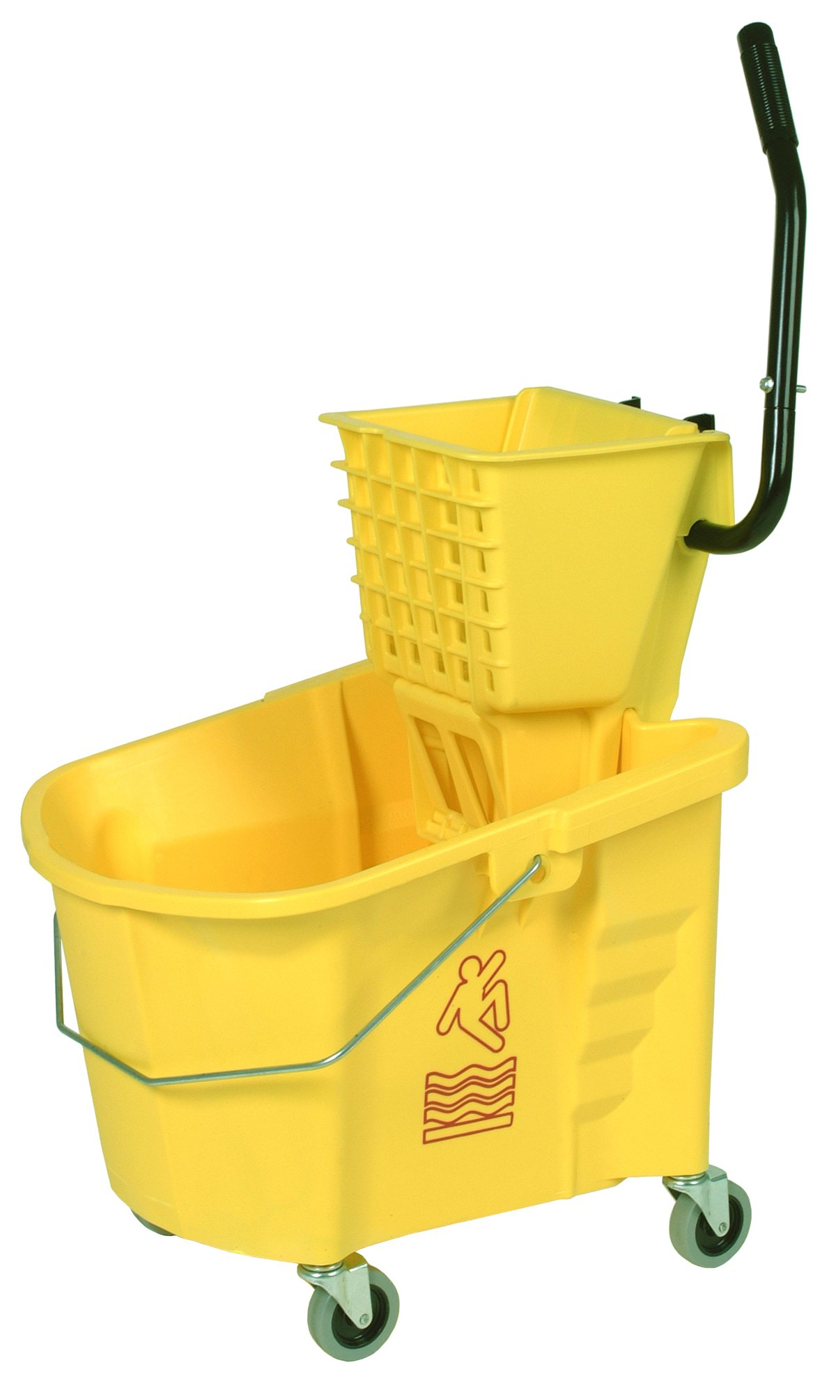 Continental 335-312YW, Splash Guard and Backsaver Combo Set with Squeeze-Type Wringer, Yellow (Case of 1)