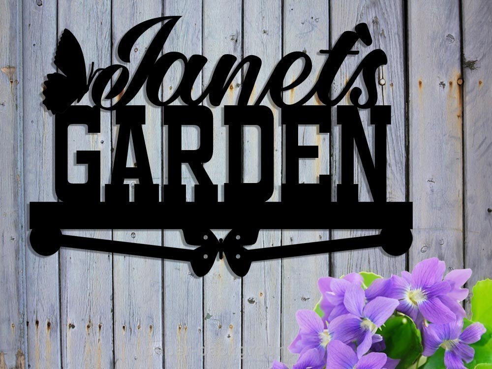Custom Metal Garden Sign - Personalized - Nana's Garden Garden Sign Butterflies Gift Mom Grandma Grandpa's Name - Hand Made Customize it! 17 x12 Gift