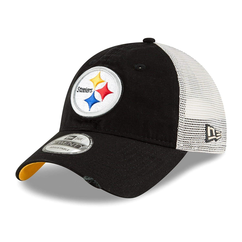 best cheap 604df 52b32 Amazon.com   New Era Pittsburgh Steelers Stated Back 9TWENTY Adjustable  Trucker Hat Cap   Sports   Outdoors