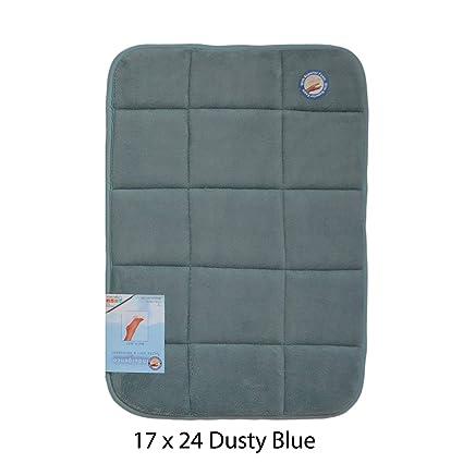 Amazoncom Slate Blue Memory Foam Bath Matarea Rug Non Skid