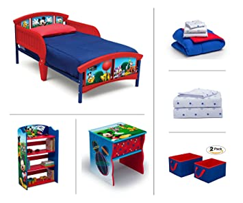 Exceptionnel Disney Mickey Mouse Toddler Room Set, 6 Piece (Toddler Bed | Bookcase |
