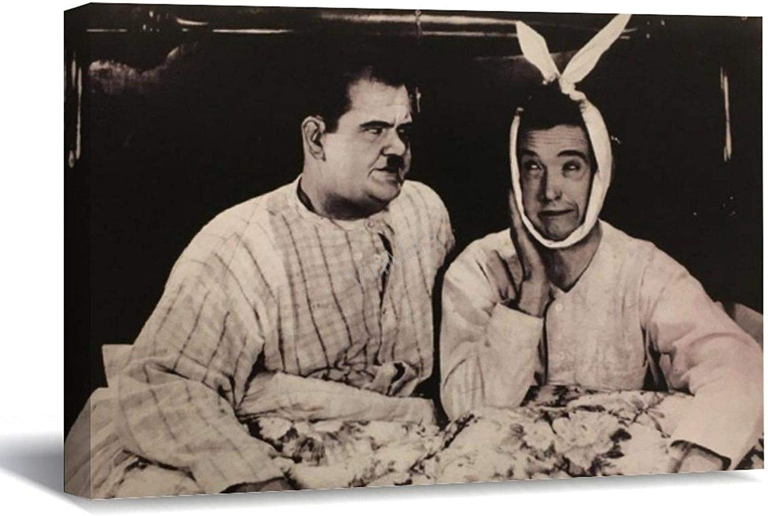 """VinMea Framed Canvas Prints Laurel and Hardy Photo Chandler and Joey Wall Art Decor Ready to Hang 16""""x20"""""""