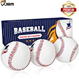 JBM Baseball Practice Ball 3 Pack Standard Baseball 9'' Adult Youth Ball for League Play Practice Competitions Training