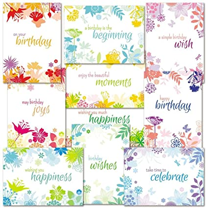 Image Unavailable Not Available For Color Botanical Birthday Greeting Cards Value Pack