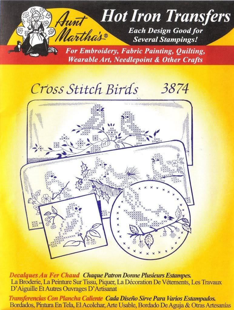 De punto de cruz pájaros tía Martha hierro caliente del bordado ...