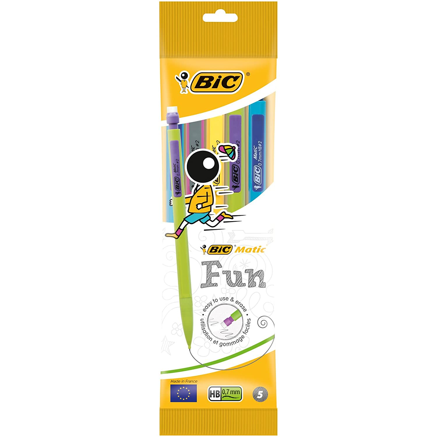 BIC Matic Fun 0.7mm HB Mechanical Pencil Pencils Pack of 5