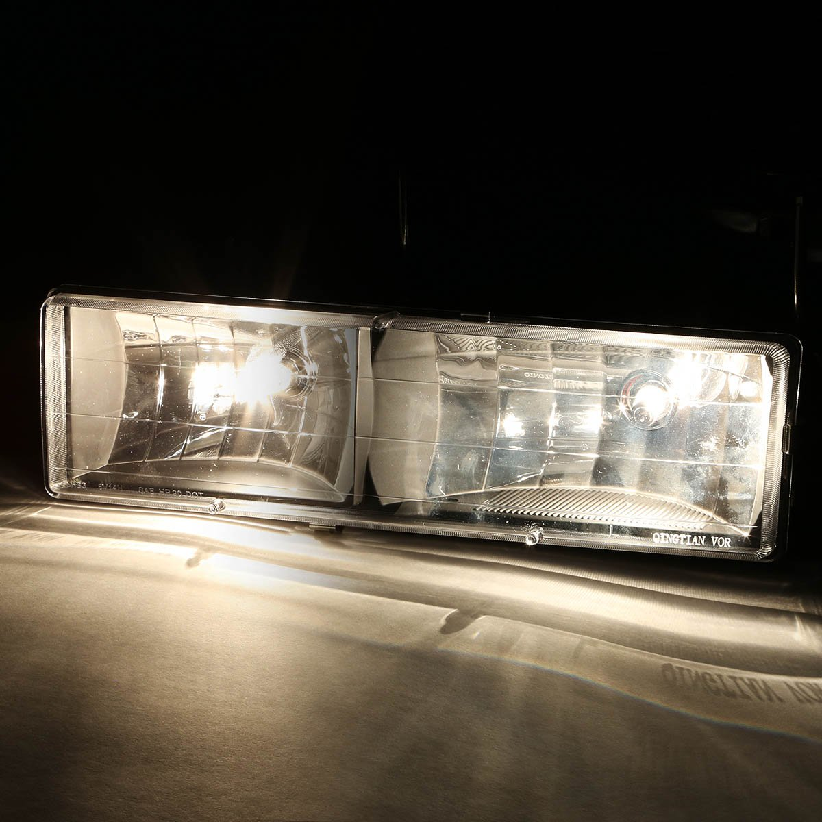 DNA MOTORING HL-OH-8P-C1094-BK-AM Headlight Assembly