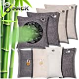 Charcoal Air Purifying Bag Natural Activated Bamboo Charcoal Eco Friendly and Moisture Absorber for Car Closet Shoe Home…