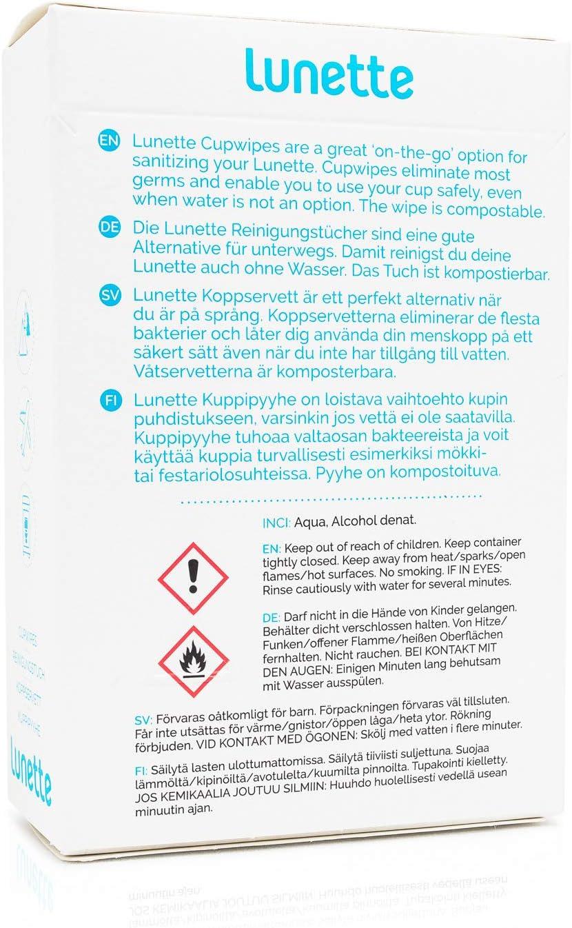 LUNETTE Toallitas Desinfectantes | 10 unds 150 g