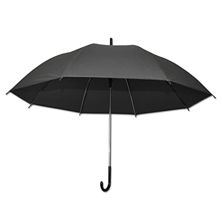 Unisex Colourful Clear Umbrella Brolly Black