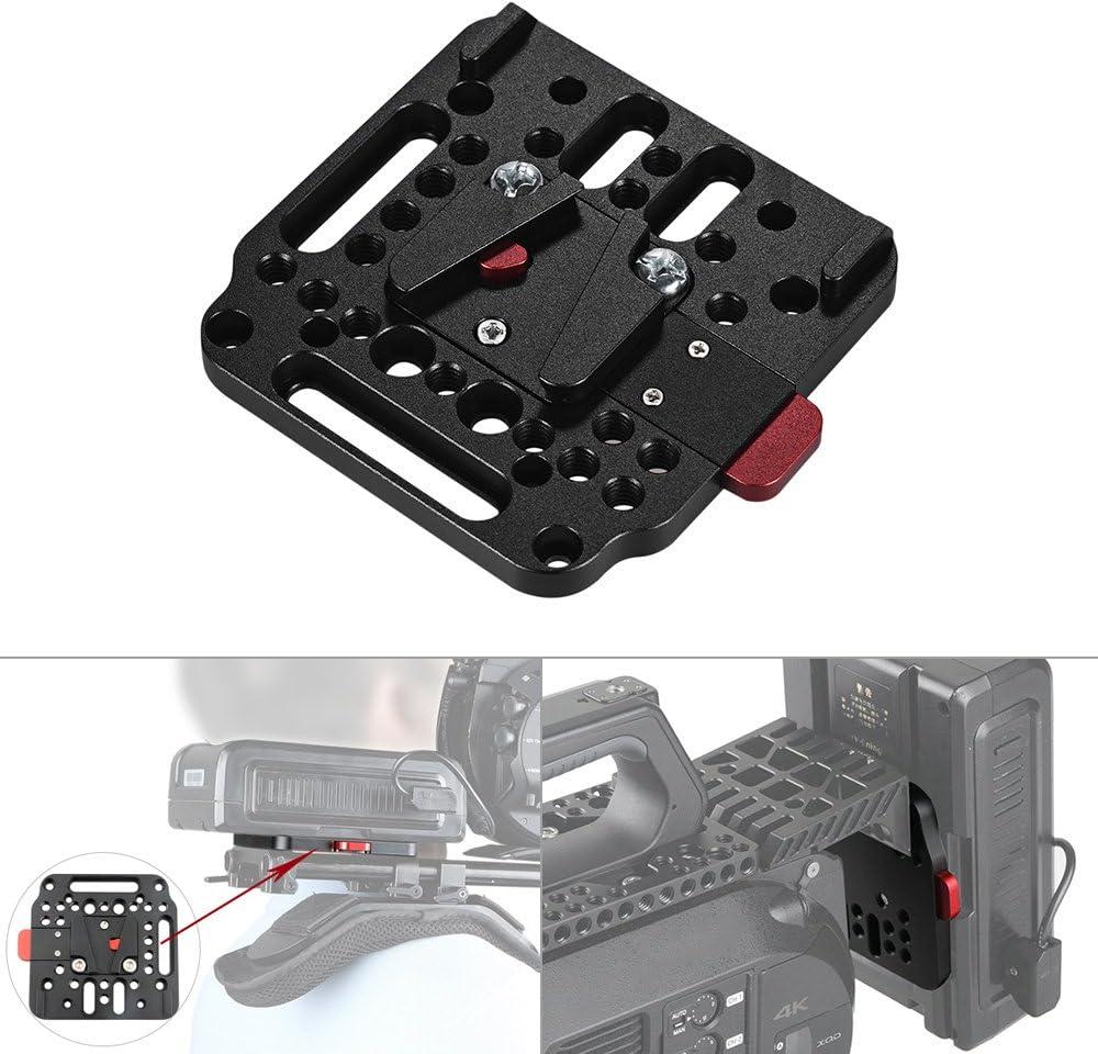 RuleaxAsi V-Lock Assembly Kit Female V-Dock Male V-Lock Quick Release Plate for V-Mount Battery