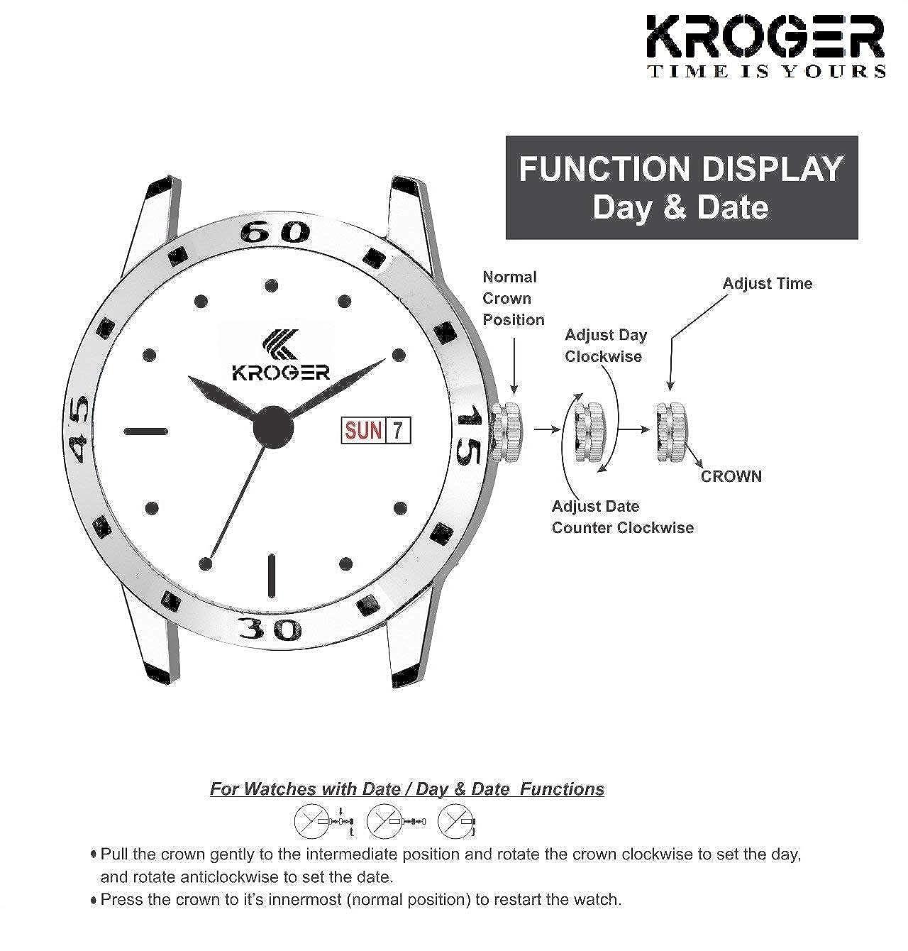 Buy KROGER Stylish Combo Pack Girls Wrist Watches for Women ...