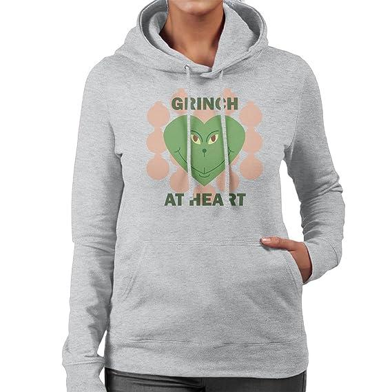 Grinch At Heart Christmas Womens Hooded Sweatshirt Amazonfr
