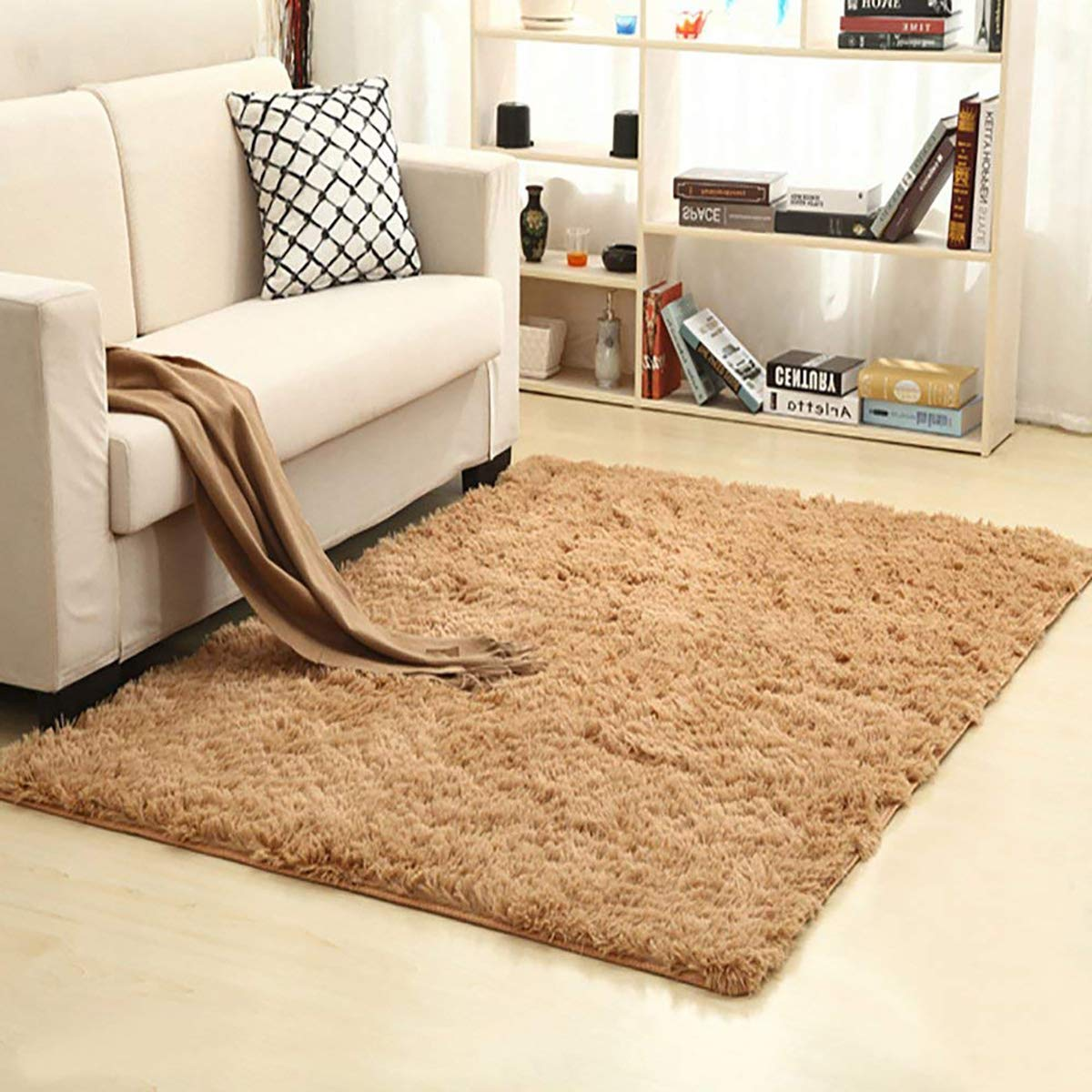 Khaki 120 Cm Ultra Soft Indoor Modern Area Rugs Fluffy Living Room Carpets Suitable For Children Bedroom Home Decor Nursery Rugs 60 Mimbarschool Com Ng