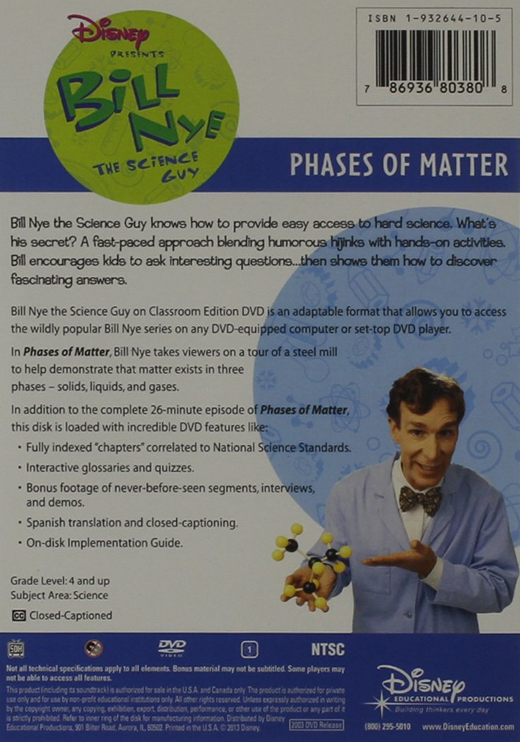 Bill Nye The Science Guy Phases Of Matter Bill