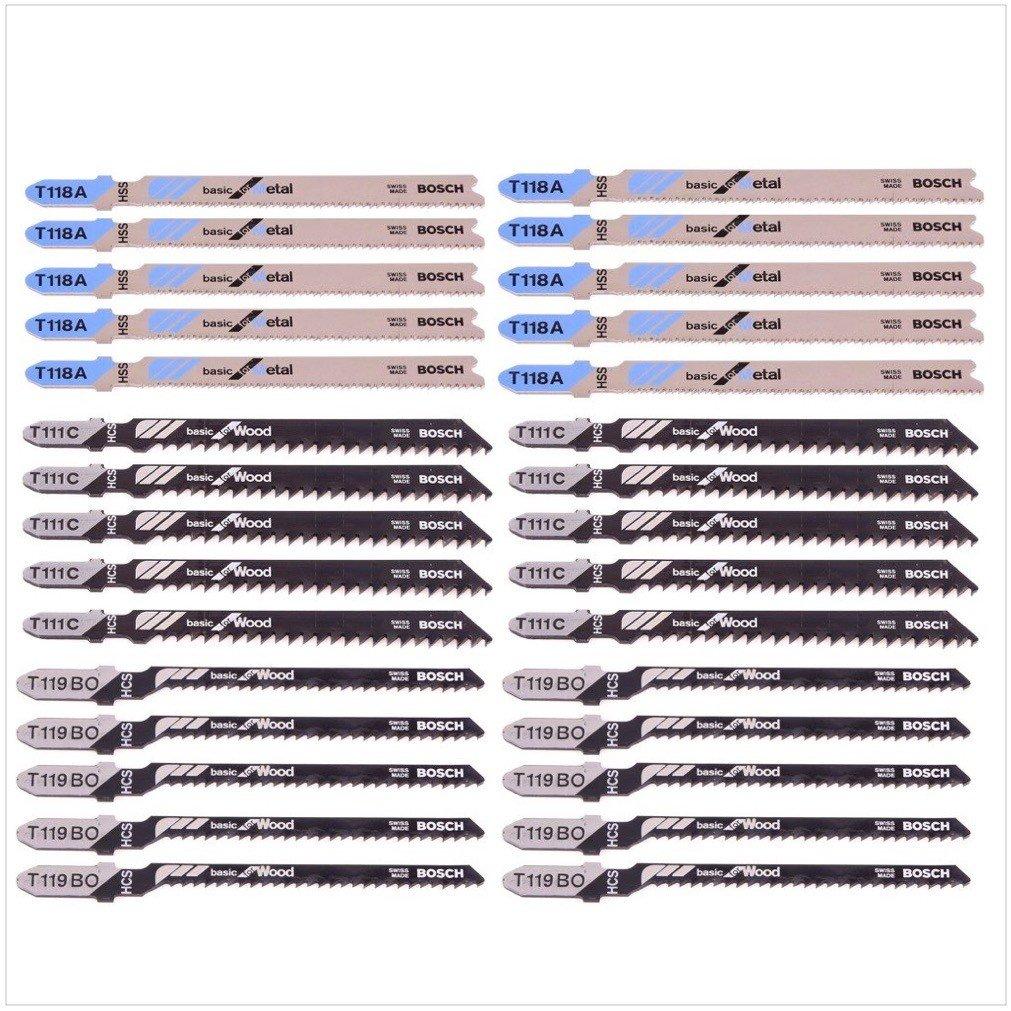 5x // S 918 BF // S 617 K 5x 5x Bosch 2607010901 Set de 15 Lames de scie sauteuse wood and metal basic s 918 AF