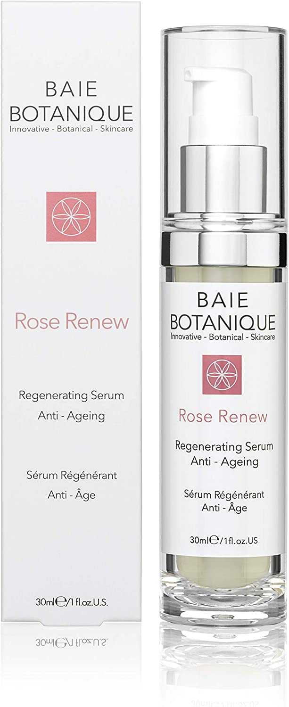 Sérum Anti Edad para la Cara 30ml- Ácido Hialurónico Botánico, Agua de Rosas, Absoluto de Rosa, Aceite de semilla de rosa mosqueta, Ácido Glicólico - Premiado - 98% Natural, 80% Orgánico
