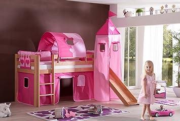 Etagenbett Tunnel Set : Dreams4home kinderbett hochbett spielbett bett maila pink herz 90