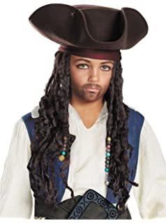 Disguise - Pirate Hat with Beaded Braids