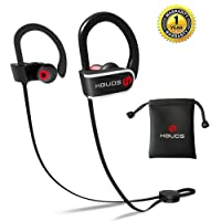 Cuffie Bluetooth, HBUDS H1 Bluetooth 4.1 Auricolari Sportivi Wireless, Bassi Profondi HiFi Stereo Auricolari In-Ear con Microfono, IPX7 Impermeabile 8-9 ore di Riproduzione Cuffie con Cancellazione del Rumore