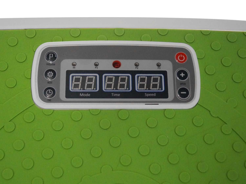 MAXOfit Plate Forme vibrante Greenline MF-21 avec t/él/écommande et Sangles d entra/înement Ajustables