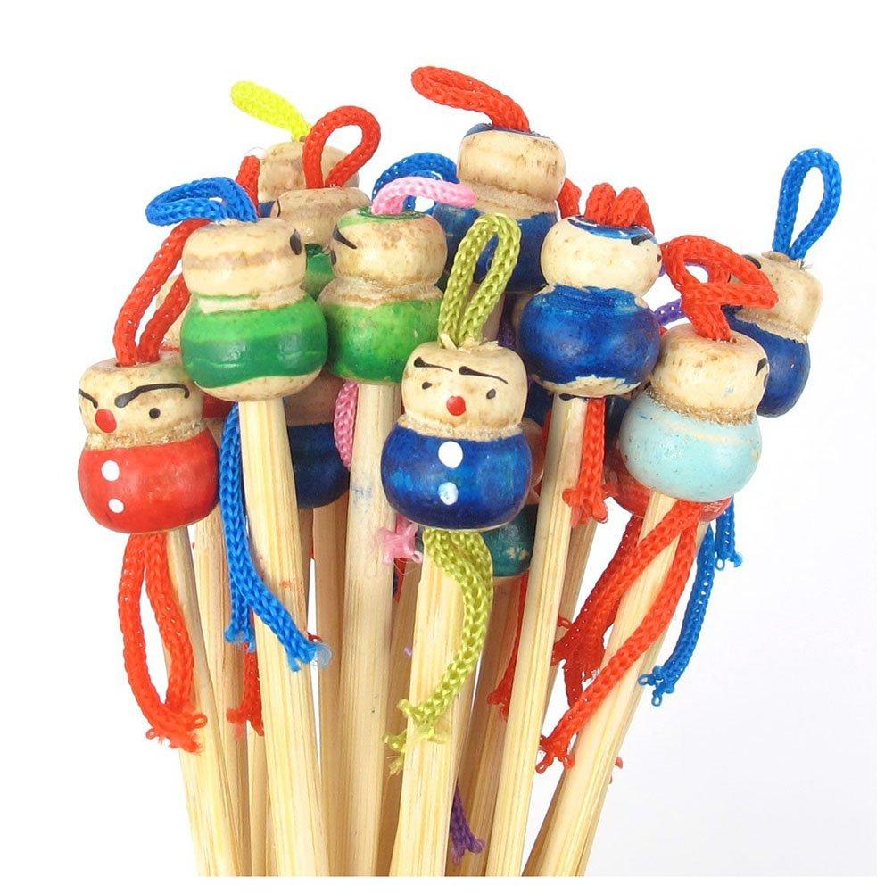 WOVELOT Bamboo Japanese Doll Ear Wax Pick Spoons Earwax Remover 20pcs