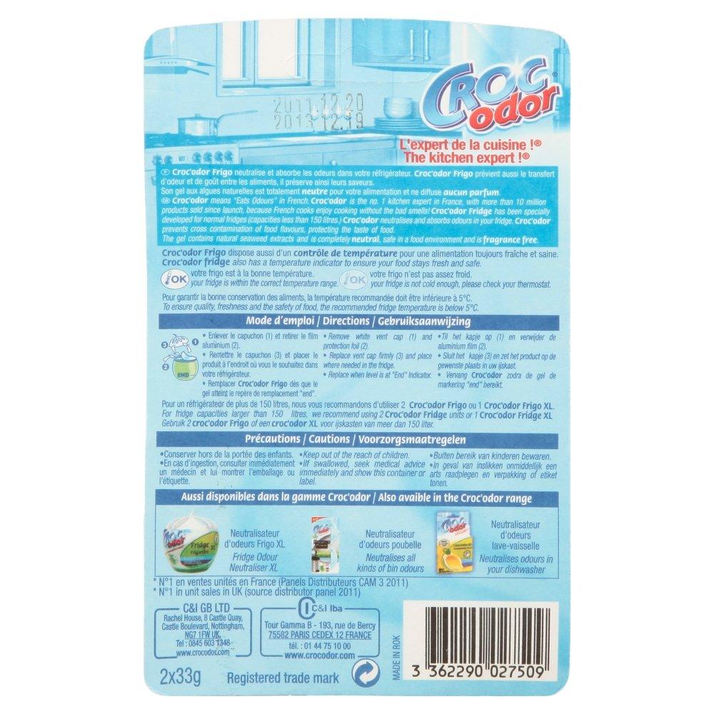 Croc Odor Fridge Deodoriser, Twin Pack