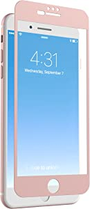 ZAGG InvisibleShield Glass + Luxe Screen Protector For iPhone 8 Plus, iPhone 7 Plus, iPhone 6s Plus, iPhone 6 Plus – Rose Gold