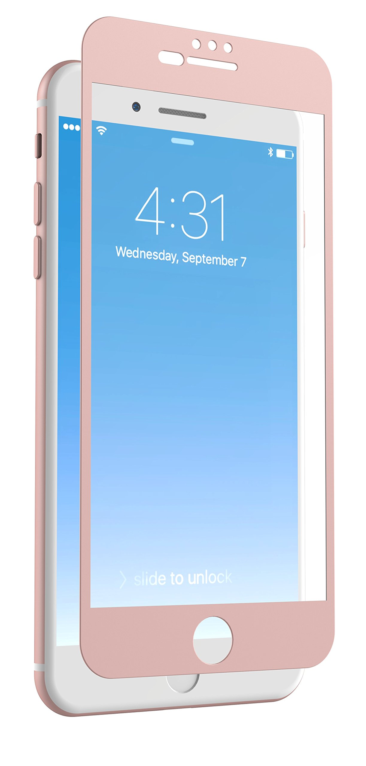 ZAGG InvisibleShield Glass + Luxe Screen Protector for iPhone 8 Plus, iPhone 7 Plus, iPhone 6s Plus, iPhone 6 Plus - Rose Gold by ZAGG