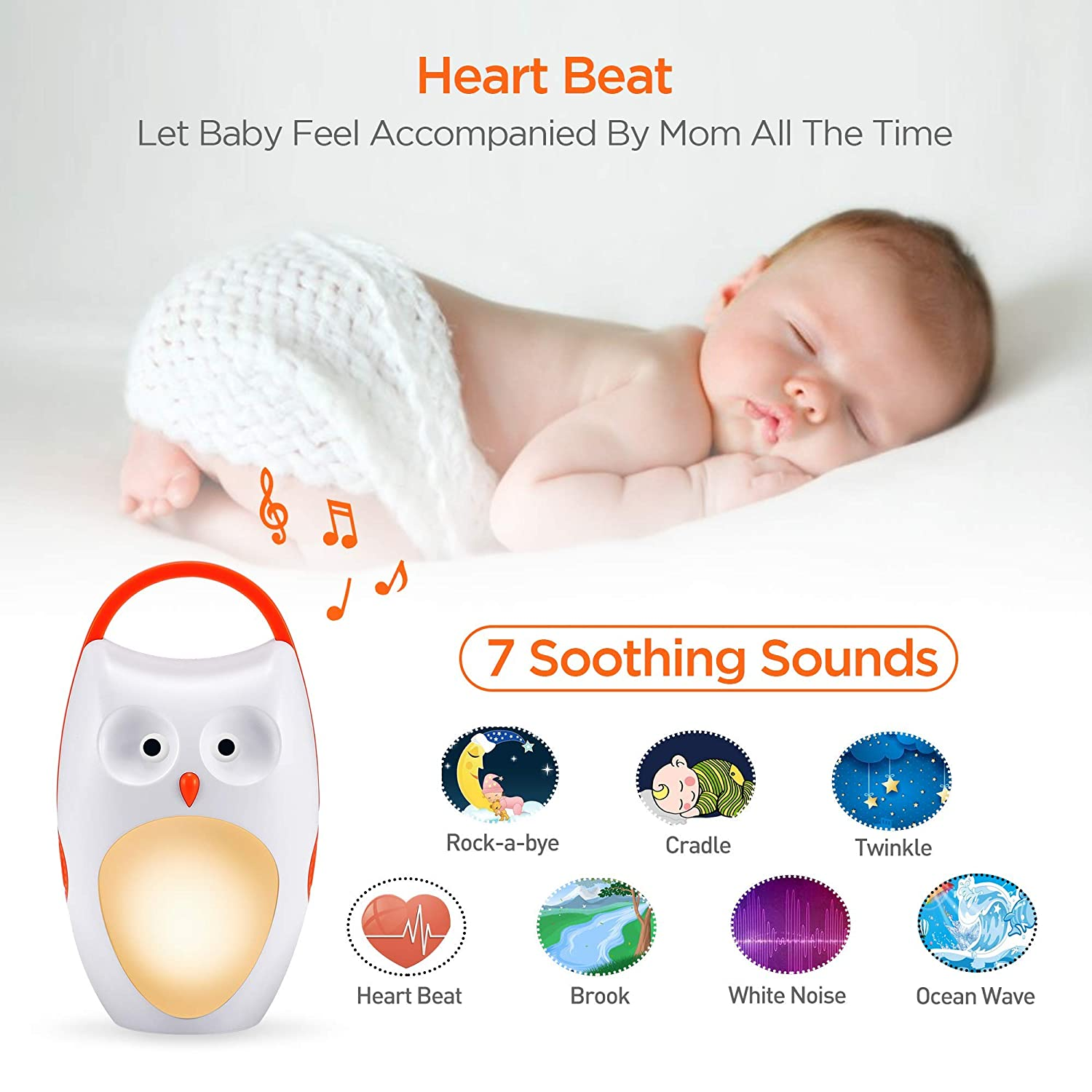 7 Soothing Sounds and 3 Timers Shusher for Traveling ...