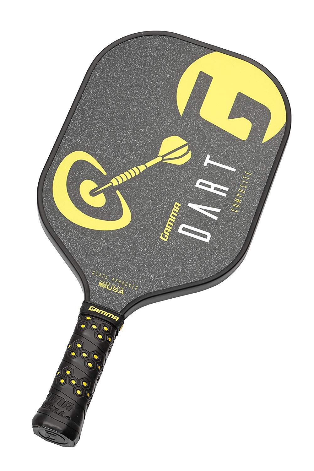 Amazon.com : Gamma Dart Composite Pickleball Paddle: Pickle Ball Paddles for Indoor & Outdoor Play - USAPA Approved Racquet for Adults & Kids - Black/Yellow ...