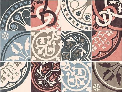 Vintage moroccan tile adesivi per piastrelle set per cucina e