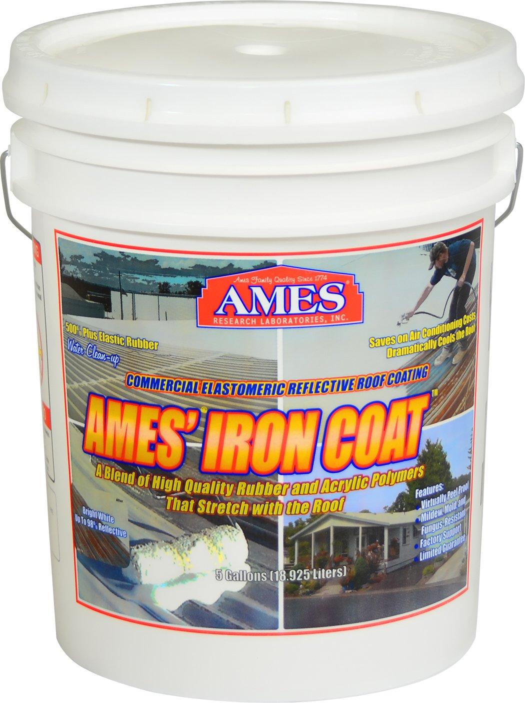 Ames IC5 5 Gallon Iron Roof Coating, White