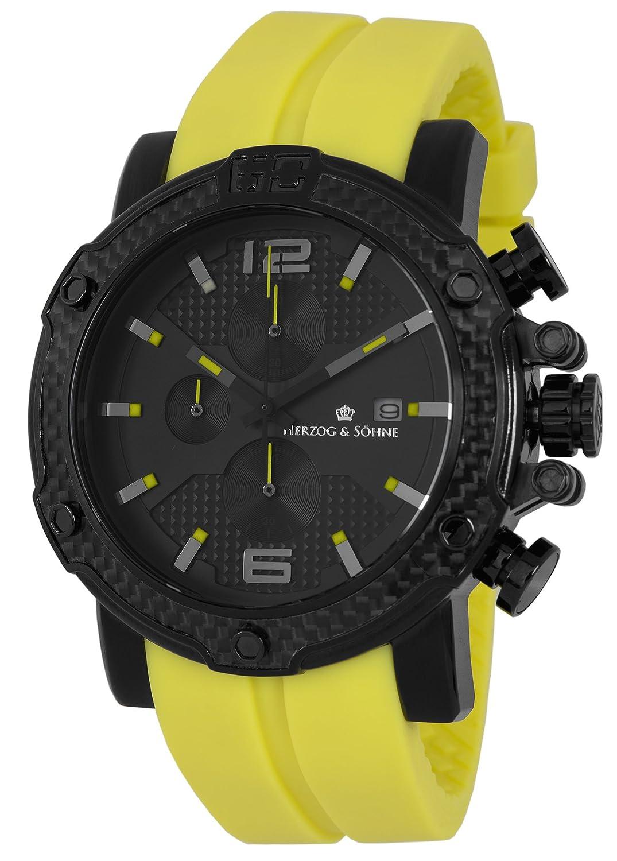 Herzog & SÖhne Herren-Armbanduhr XL Analog Quarz Silikon HS201-620