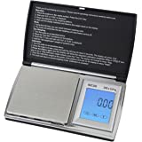Smart Weigh ACC200 AccuStar Digital Back-Lit Touch Screen Pocket Scale - Black