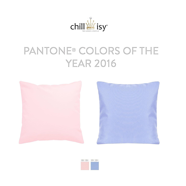 Outdoor Cojín Pantone® 2016: Rose Quartz, Serenity (funda de ...