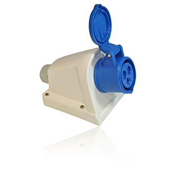 CDL Micro 16A 3 Pin Male Wall Mount Appliance Inlet for Tent//Motorhome//Caravan Hookup IEC 60309 309 IP449 2P+E 6h
