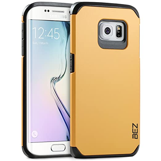 2 opinioni per Cover Samsung Galaxy S6 Edge, BEZ® Cover Protettiva con Impact Absorbing
