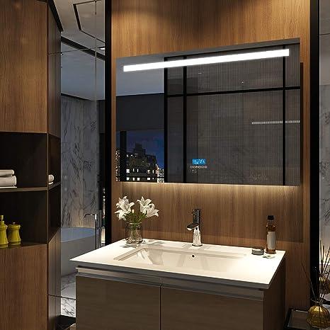 Emke Badspiegel Mit Led Beleuchtung 100 X 60 X 4 5cm Lichtspiegel