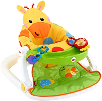 Amazoncom Fisher Price Sit Me Up Floor Seat With Tray Giraffe Baby