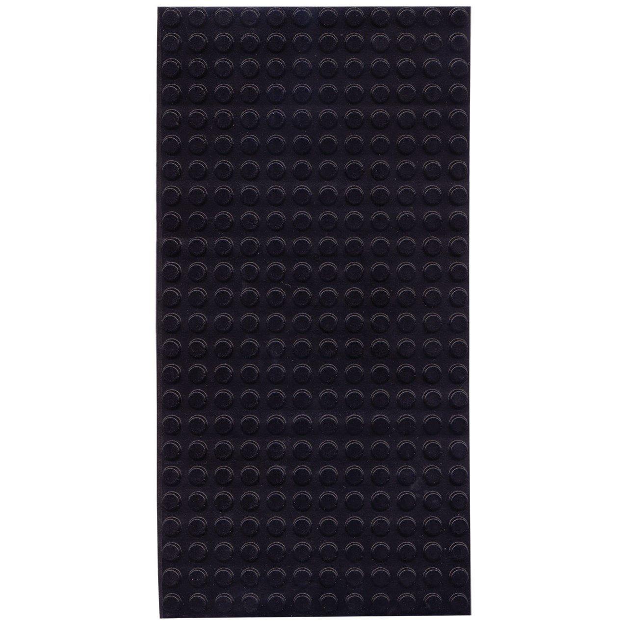Bump Dots- Round-Flat Top-Black-Medium-300pk