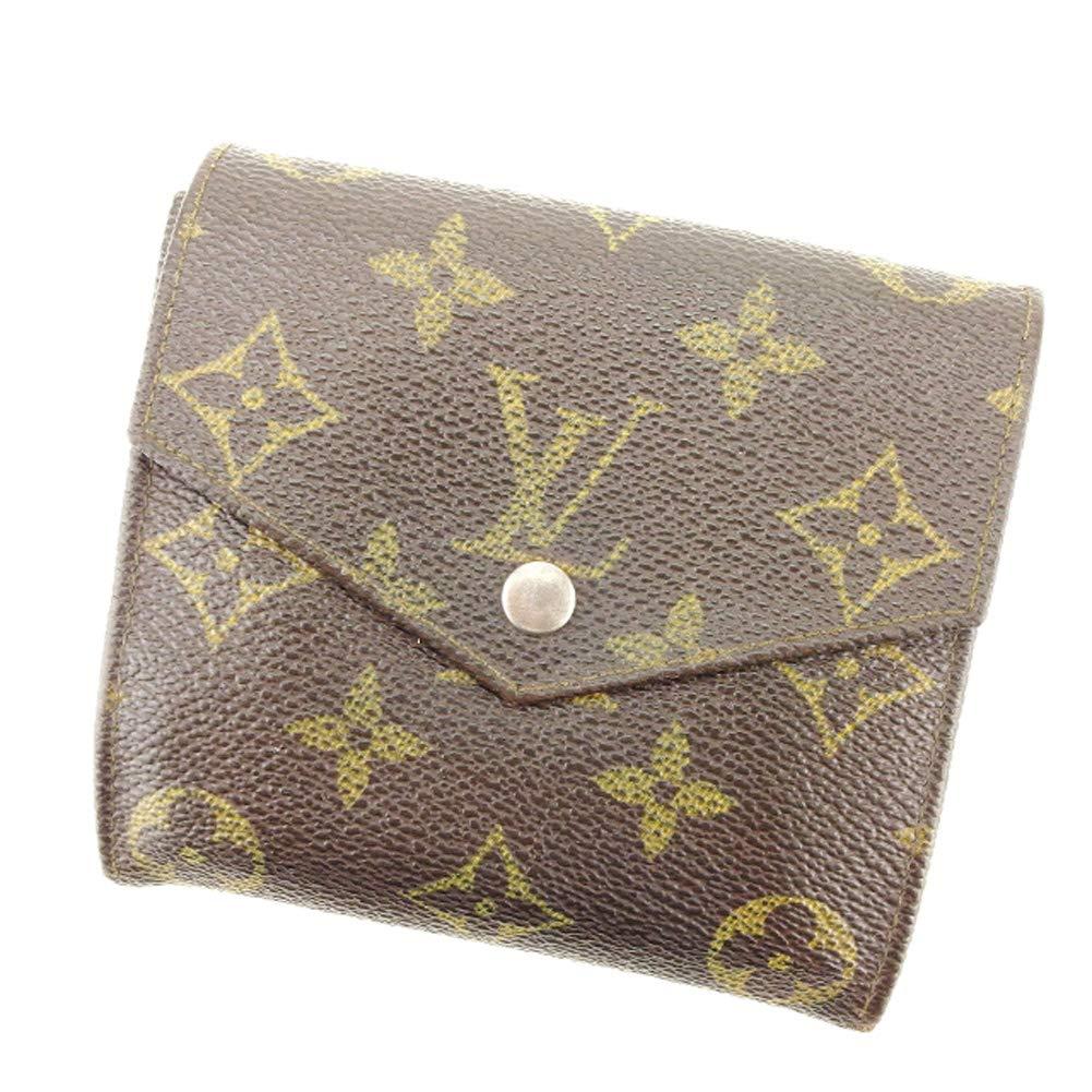 (ルイヴィトン) Louis Vuitton Wホック 財布 二つ折り 財布 レディース メンズ ポルトモネビエ(旧タイプ) M61660 モノグラム 中古 廃盤 Q521   B07KYMNX3V