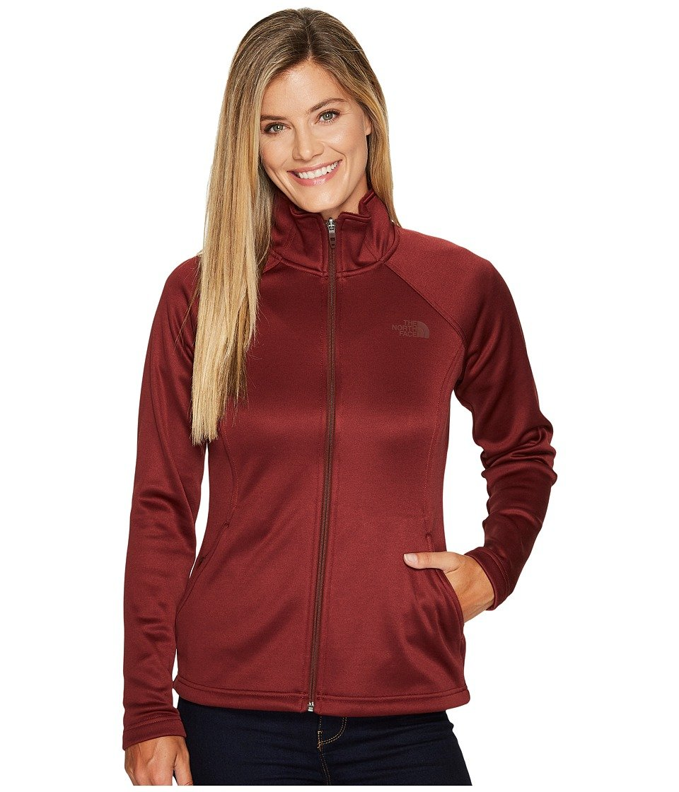 Barolo Red Heather The North Face Womens Agave Full Zip Jacket