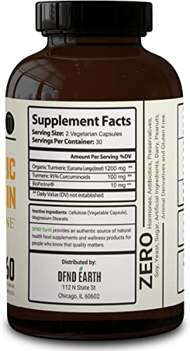Turmeric Curcumin with Bioperine – High Potency Joint Pain Relief. Anti-Inflammatory, Antioxidant Supplement with 95 Standardized Curcuminoids. Non-GMO, Gluten Free with 10 milligrams of Black Pepper